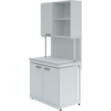 Стол лабораторный с шкафом-надстройкой ЛК-900 СН
