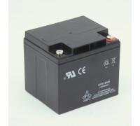 Аккумуляторная батарея 12В 40Ач HYS12400(FS123GC,FS129), бокс пластик + два аккумулятора