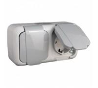 Блок электророзеток (2 шт.) с автоматом отключения питания 16А