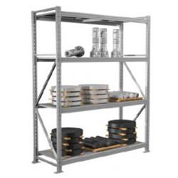 Стеллажи металлические серии MS Pro (2500 кг на секцию)
